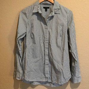 J. Crew Button Down Pinstripe Shirt